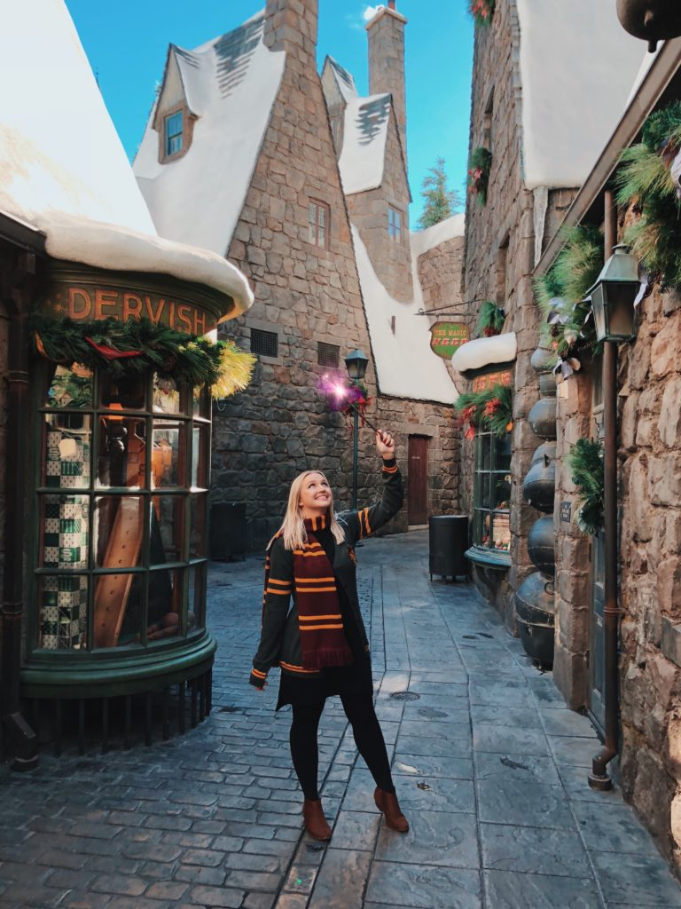 Christmas at Wizarding World of Harry Potter in Hollywood