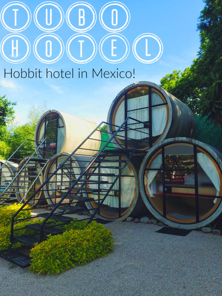 Mexican Hobbiton? Sleeping in a cement tube in Mexico!