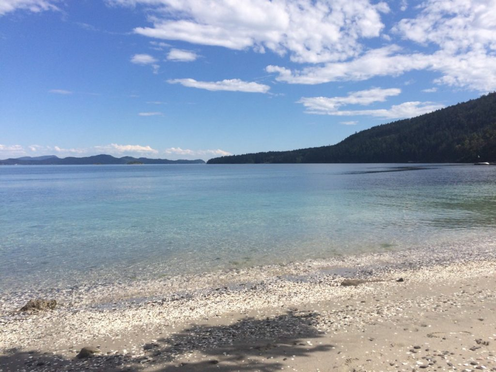 A beautiful beach on Salt Spring Island - 2.5 hours from Vancouver by ferry.